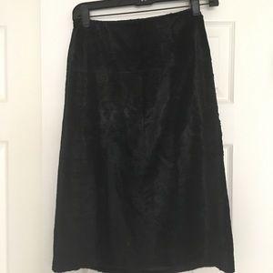 Max Mara high waisted crushed velvet skirt size 8